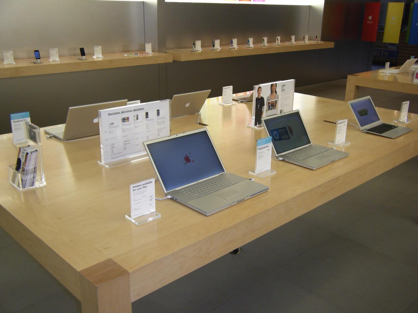 Apple Store MacBook Angle