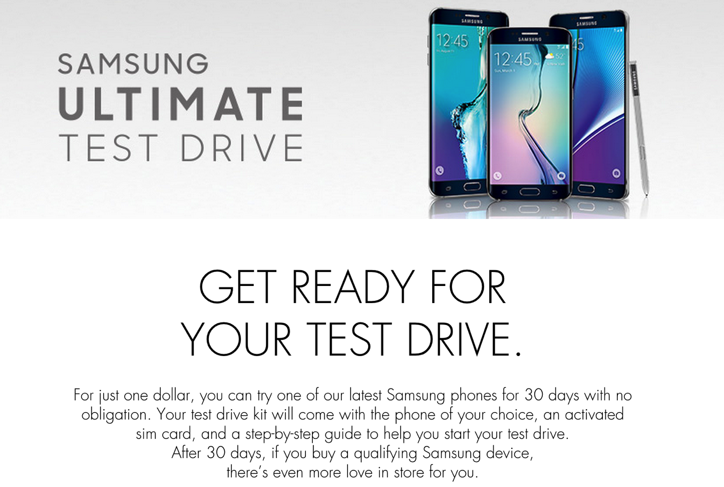 Samsung Ultimate Test Drive