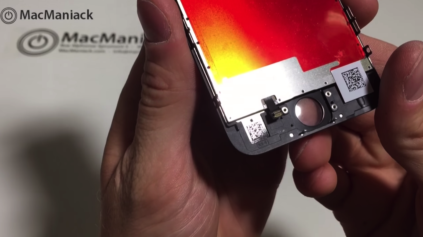 iPhone 6sのディスプレイ組み立て映像