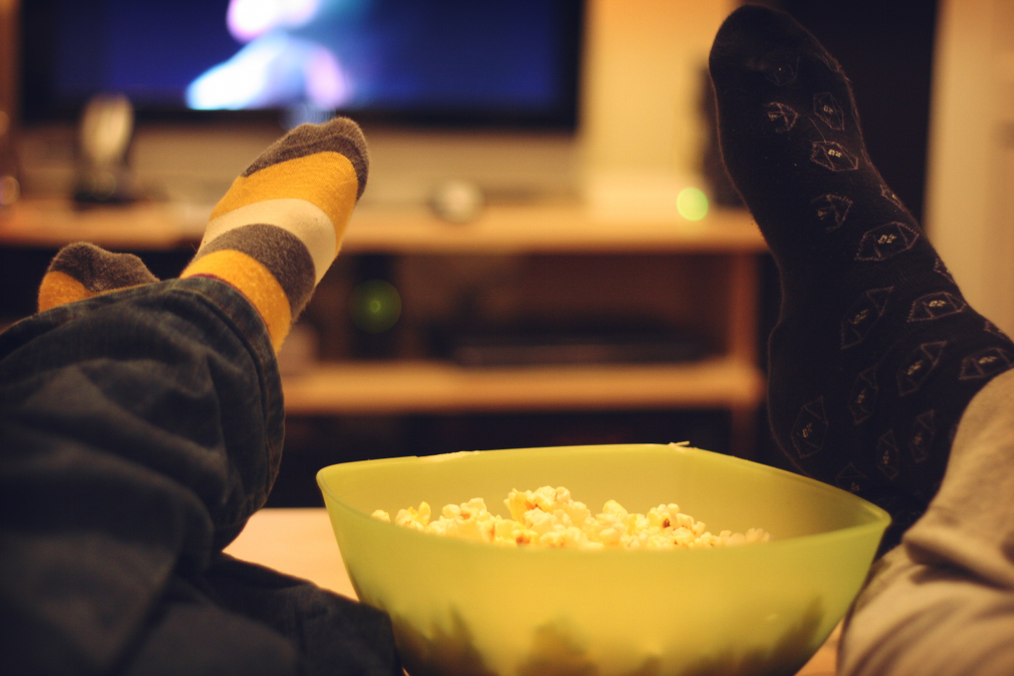Watching movie at home