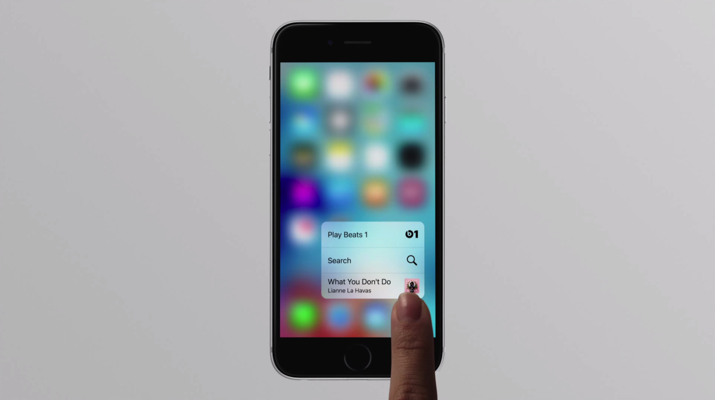 iPhone 6s・6s Plusの3D Touch