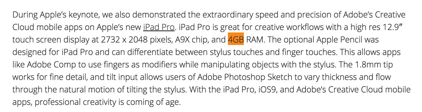 4GB of RAM