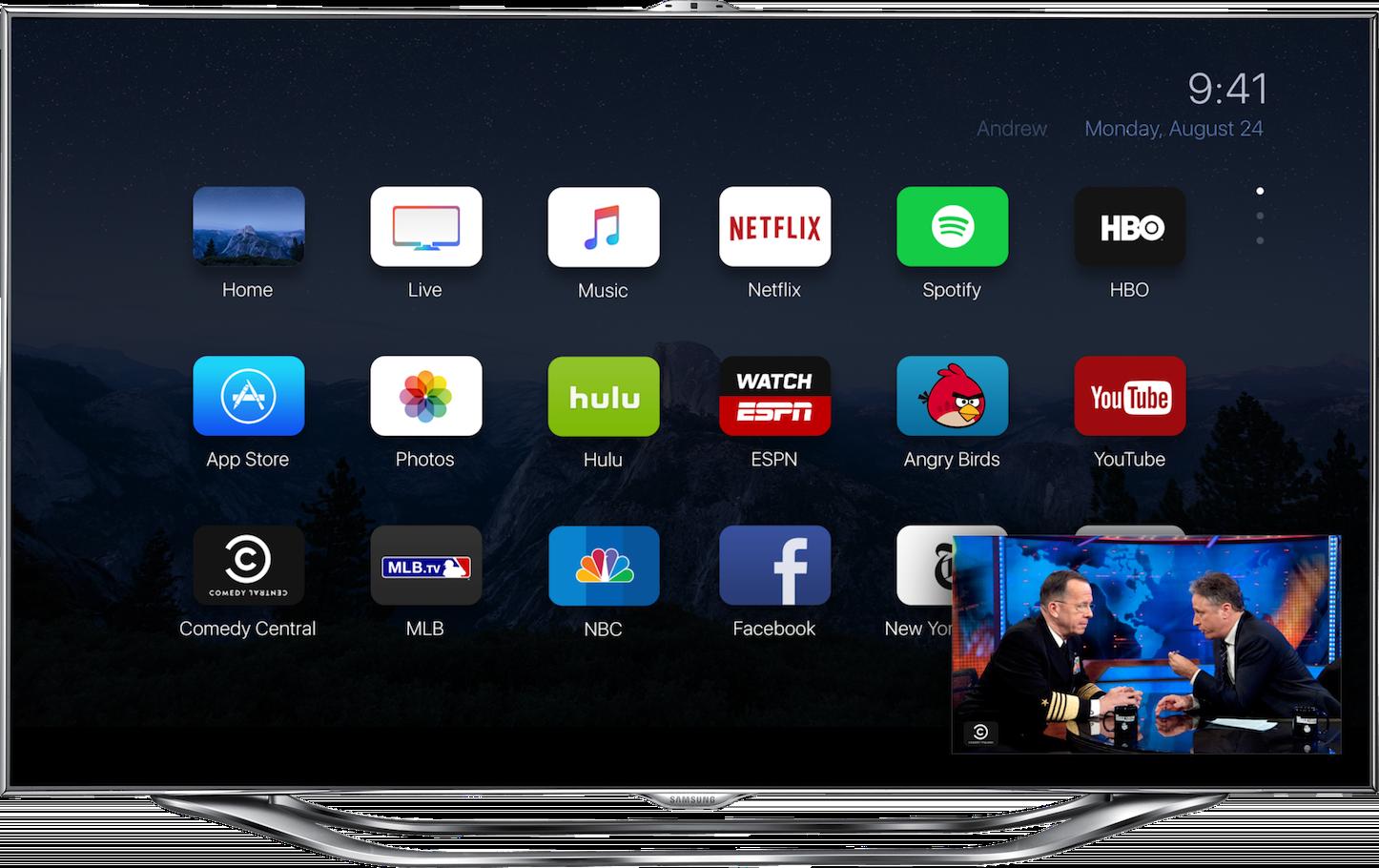 Apple TVのコンセプトイメージ