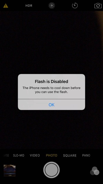 Flash is disabled