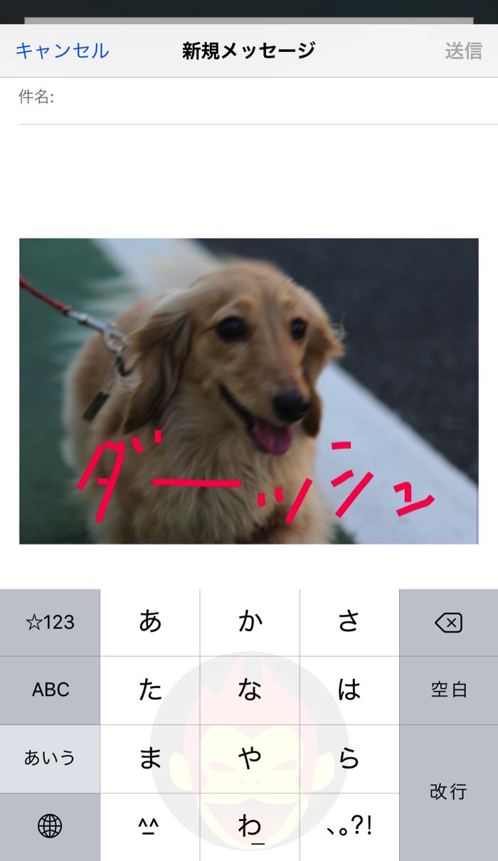 【IOS 9】メールに添付したファイルを装飾可能に