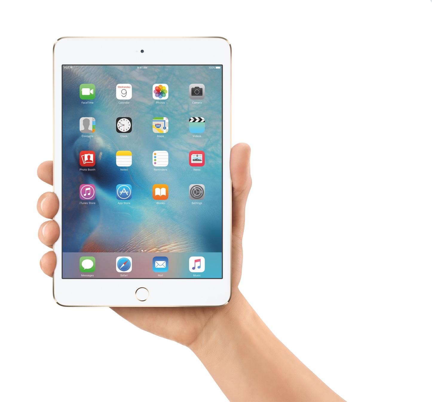 IPadMini4 Hand iOS9 Homescreen PRINT