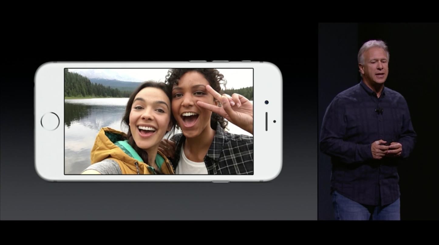 500万画素FaceTimeカメラを搭載
