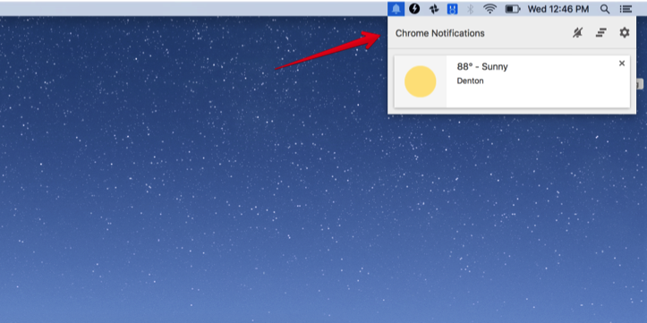 Chrome Notification Center