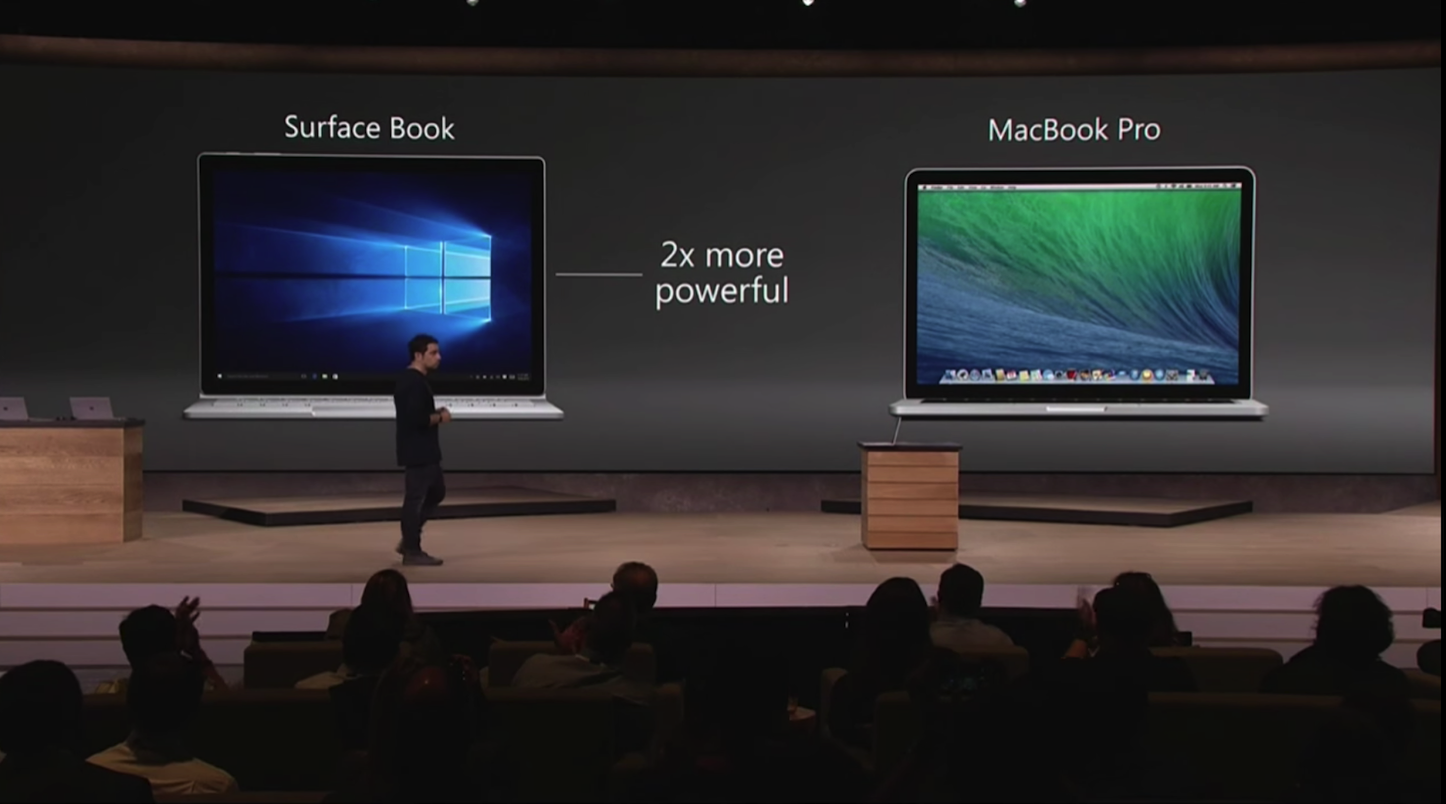 Surface Book Not Better Than MacBook Pro 13
