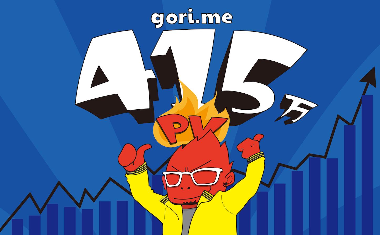 gori.me415万PV達成