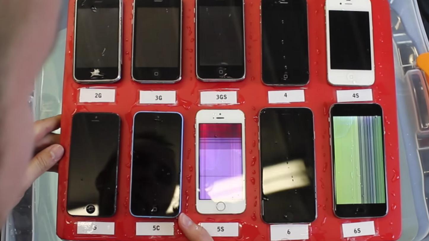 Waterproof testing iphones