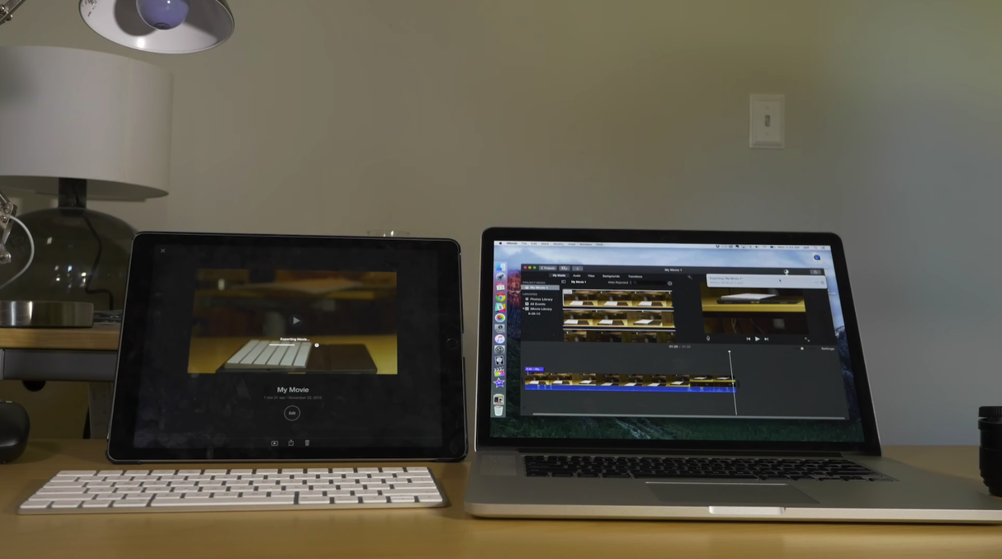 4K iPad Pro VS MacBookPro15 Late2013