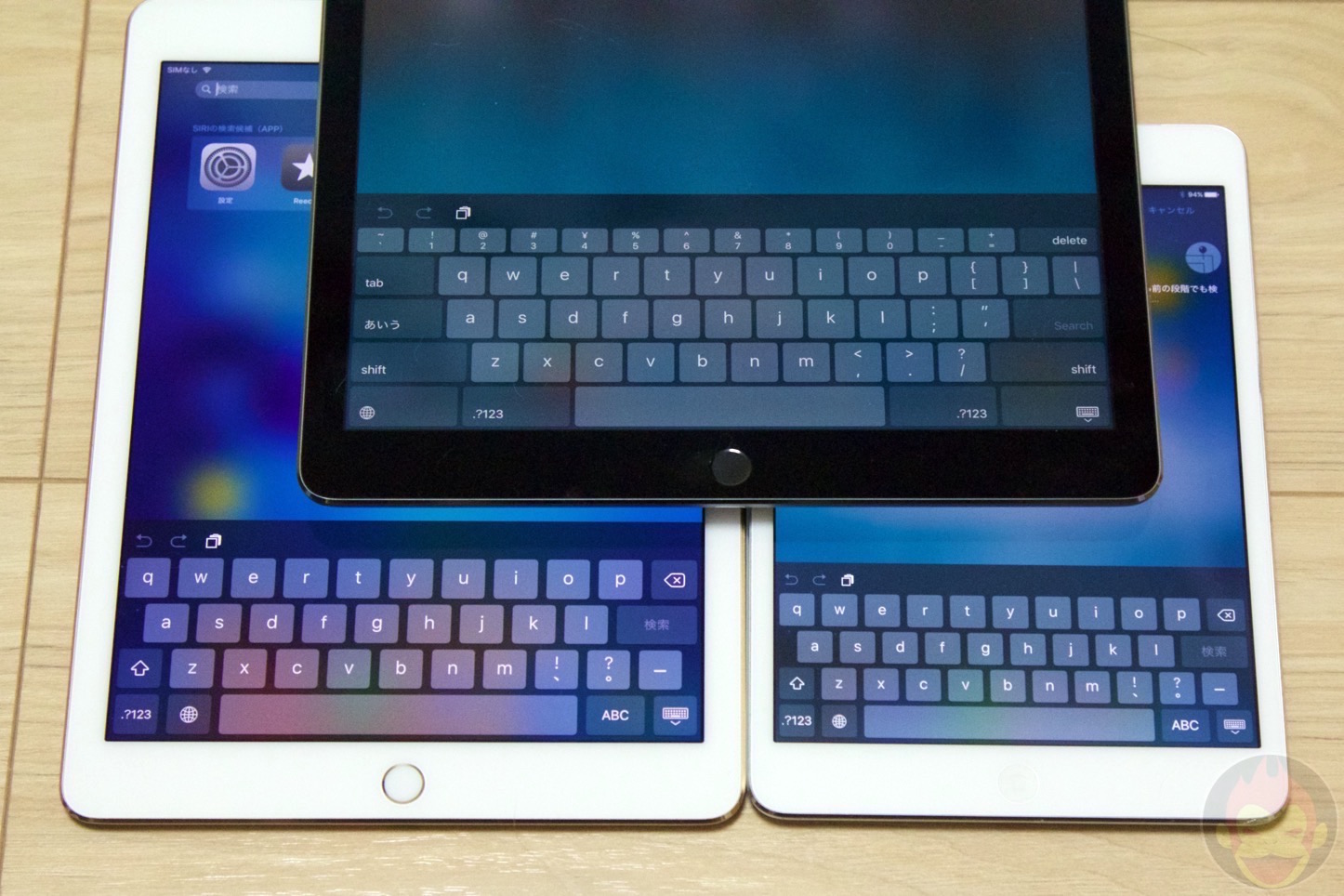 IPad Pro Air2 mini2 Comparison