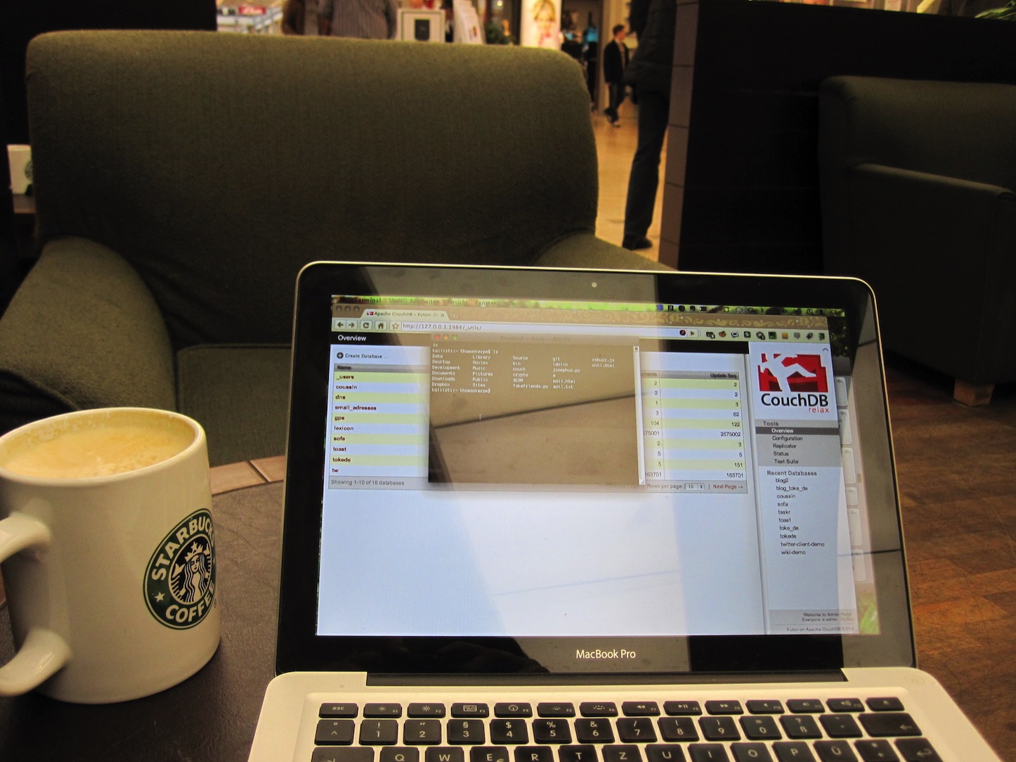 Macbook and coffee
