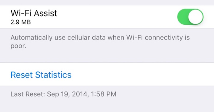 Wi Fi Assist Usage