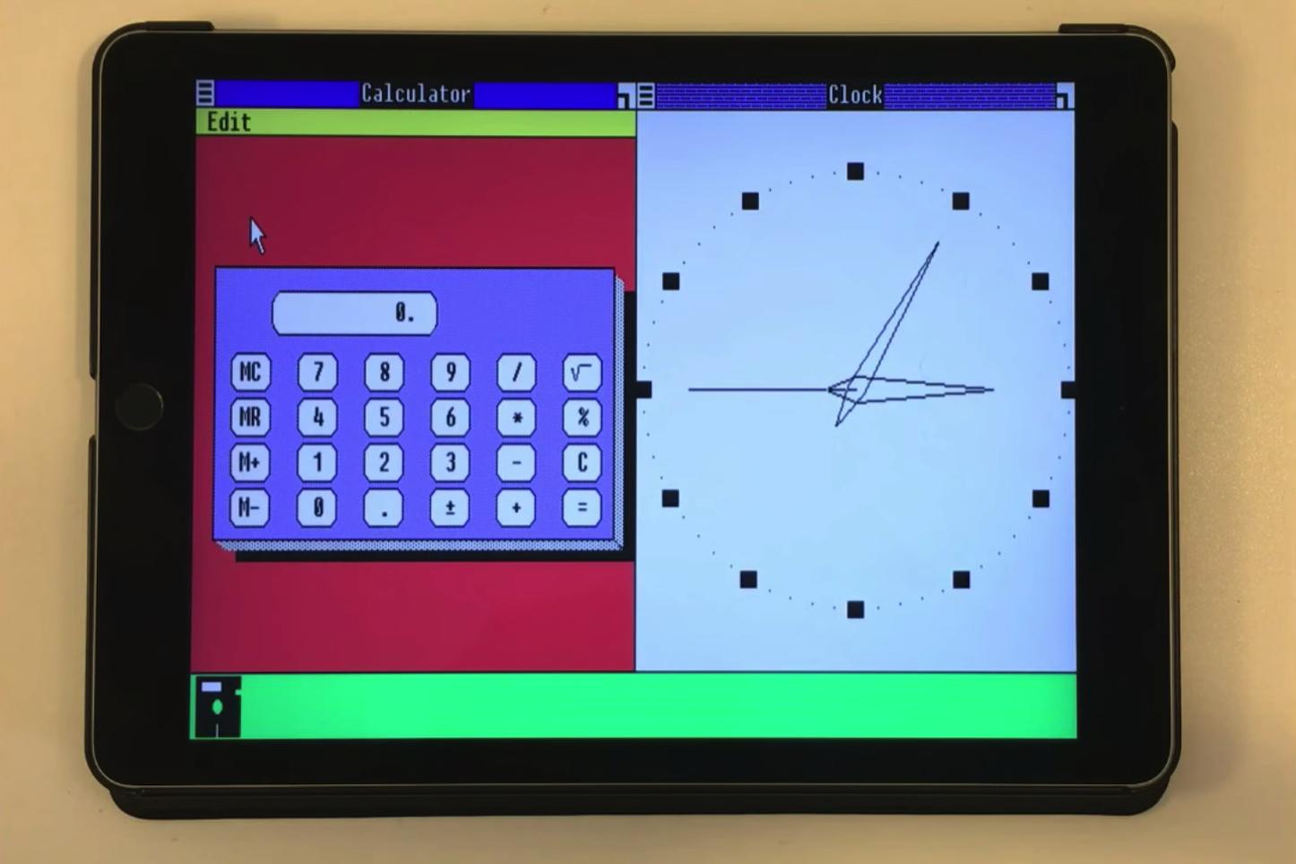 Windows 1.0 on iPad Air 2