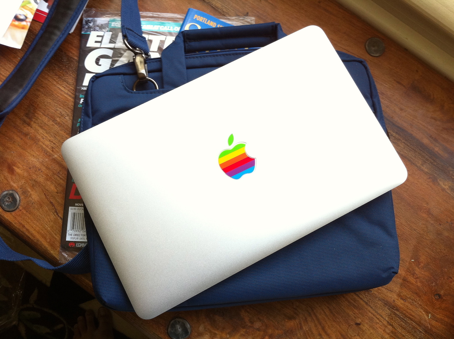 Macbook air colorful logo