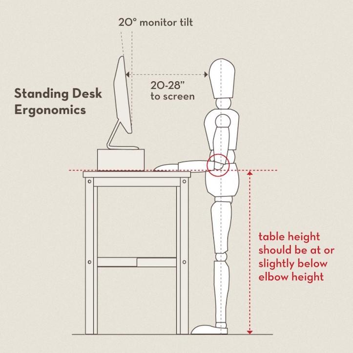 Standing desk ergonomics 2
