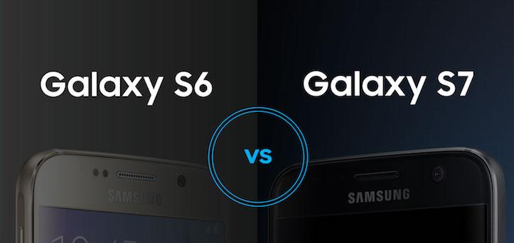 Galaxy s6 s7 Comparison