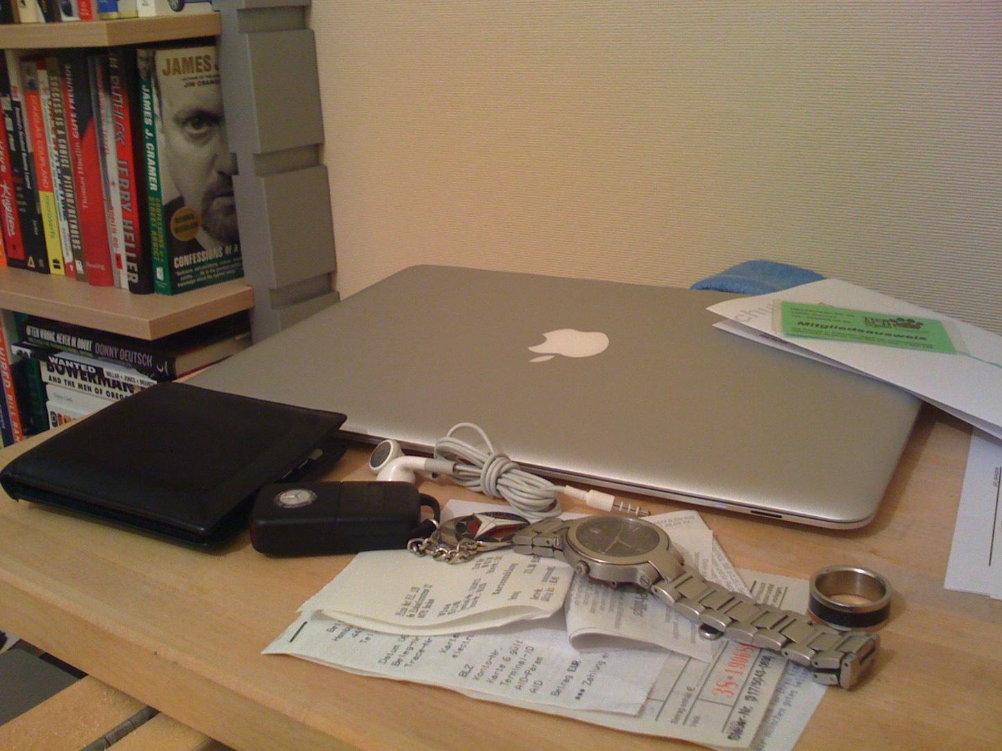 Macbook air on desk