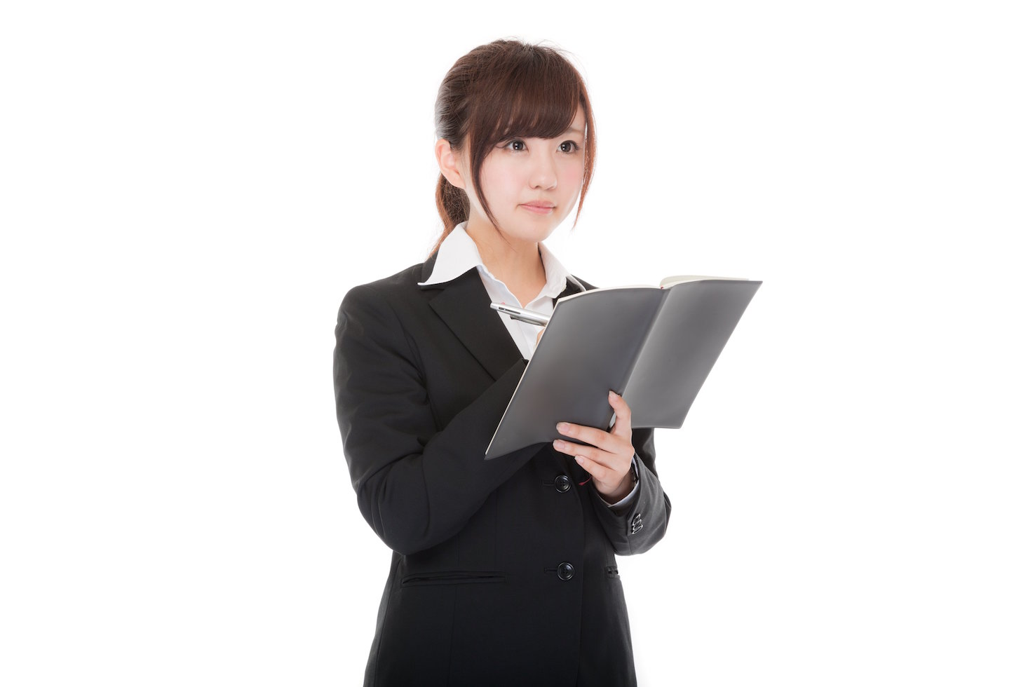 Working office girl