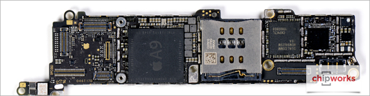 Apple iphone se teardown chipworks analysis internal back pcb