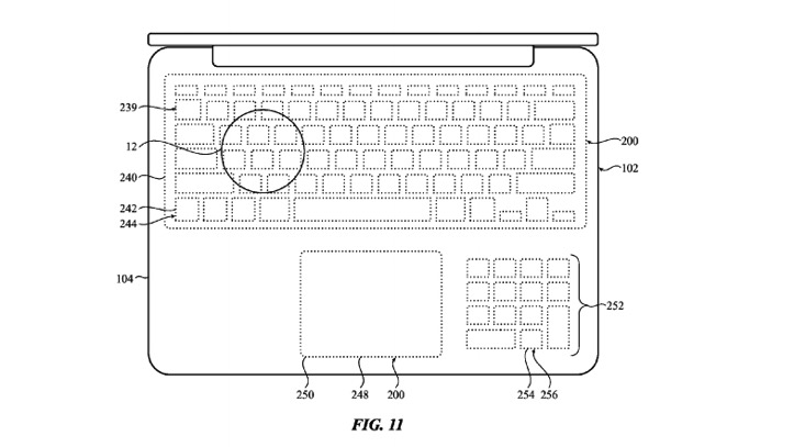 Apple Touchpad Keyboard Patent