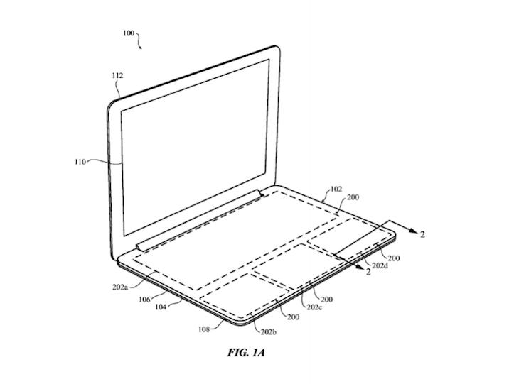 Apple Touchpad Keyboard Patent