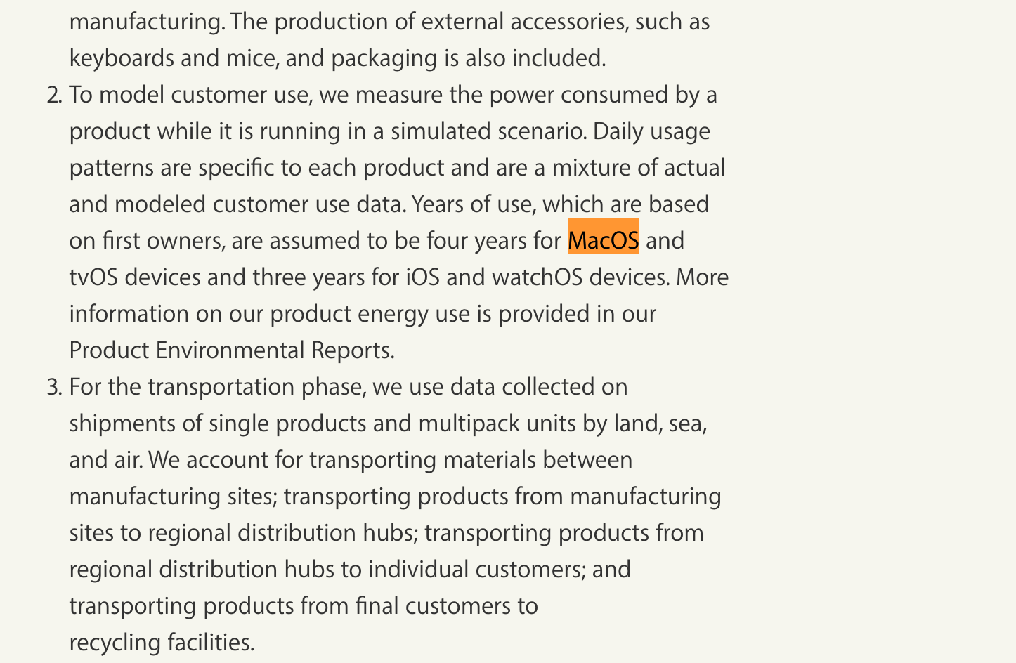 MacOS Environment