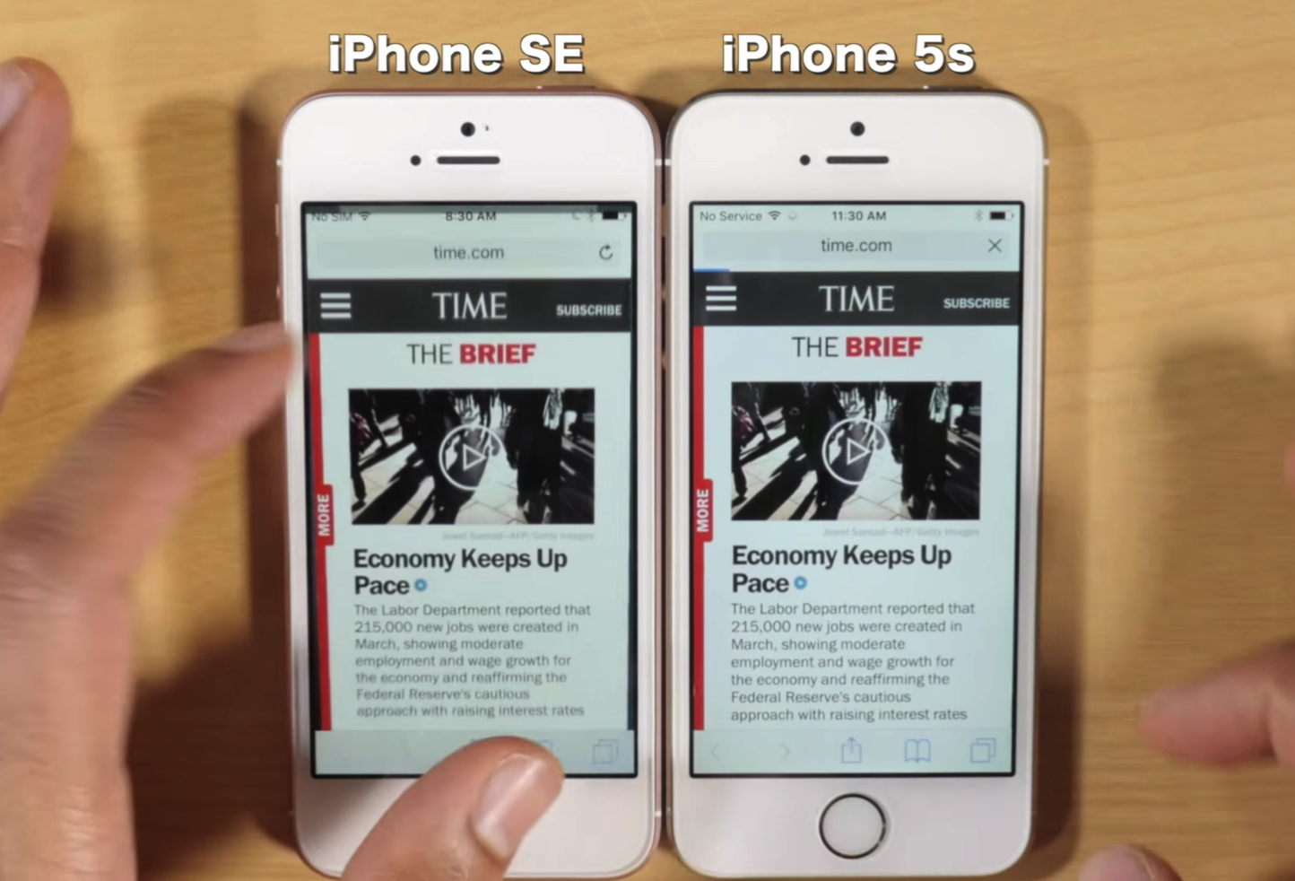 Iphonese vs iphone5s ram comparison