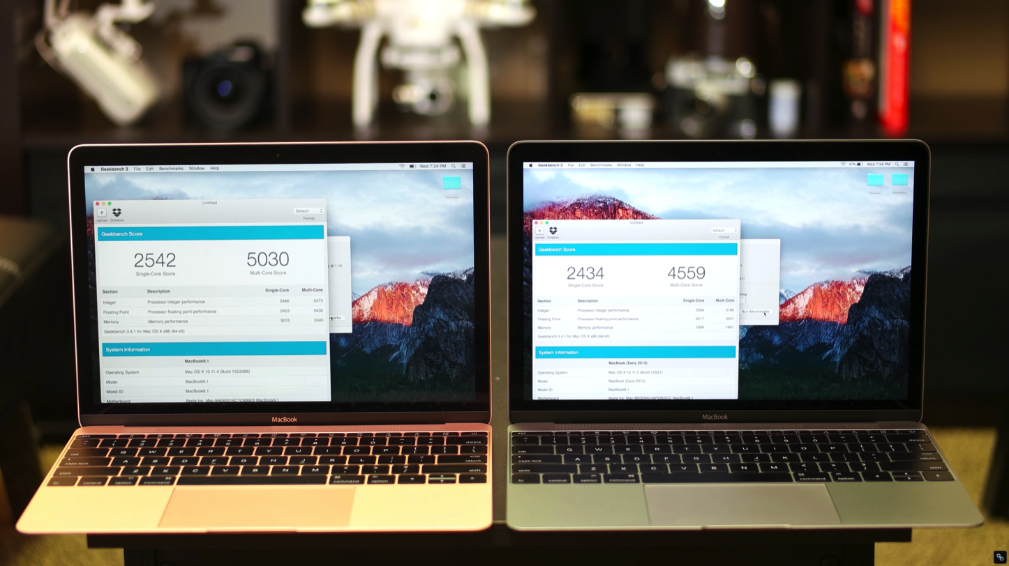 MacBook 12inch 2015 2016 comparison