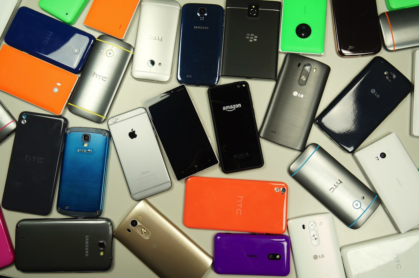 Lots of smartphones