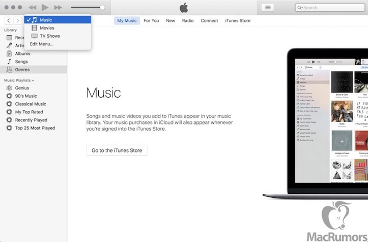 New itunes navigation