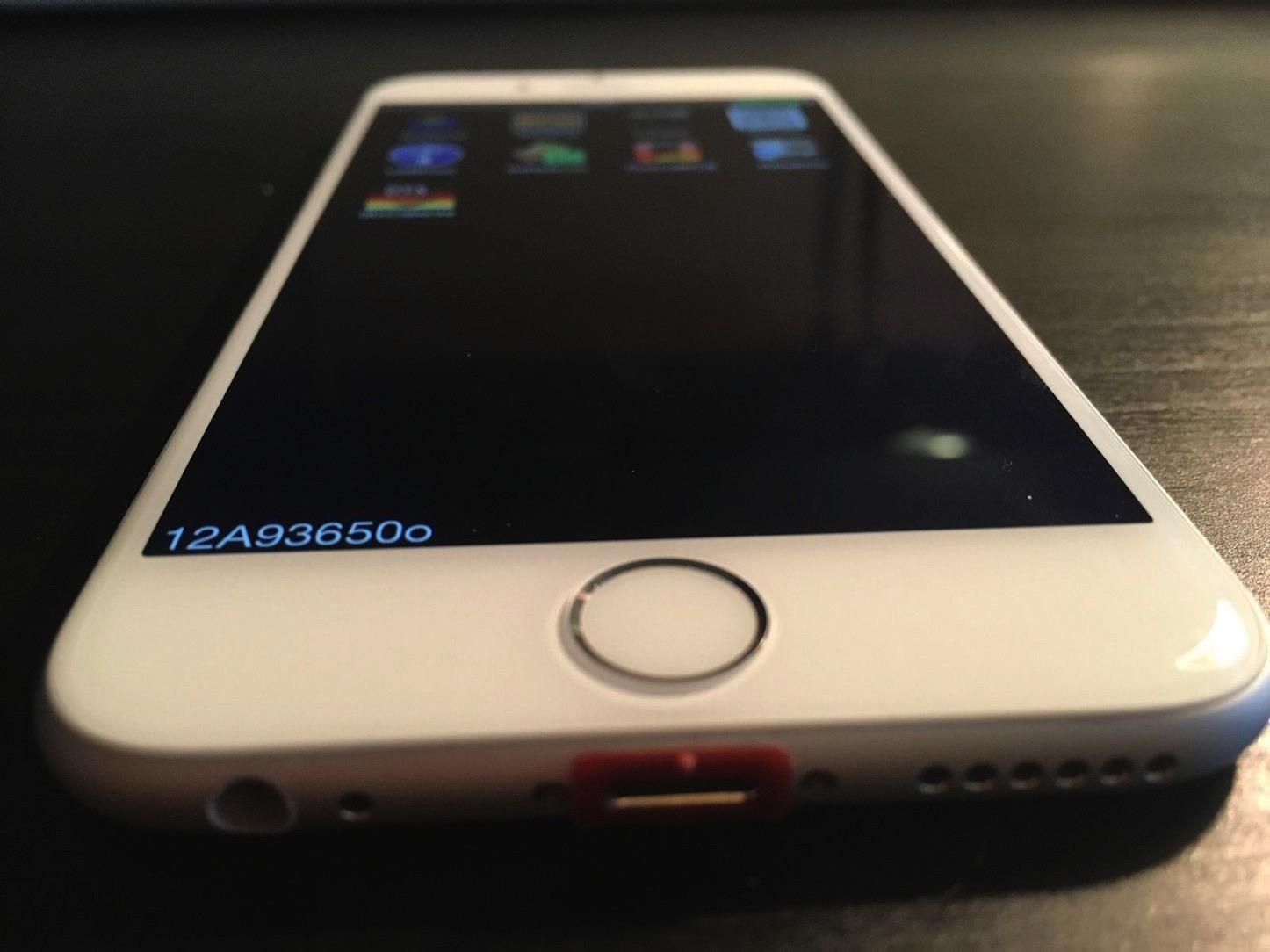 iPhone 6のプロトタイプ(テスト用OS搭載)