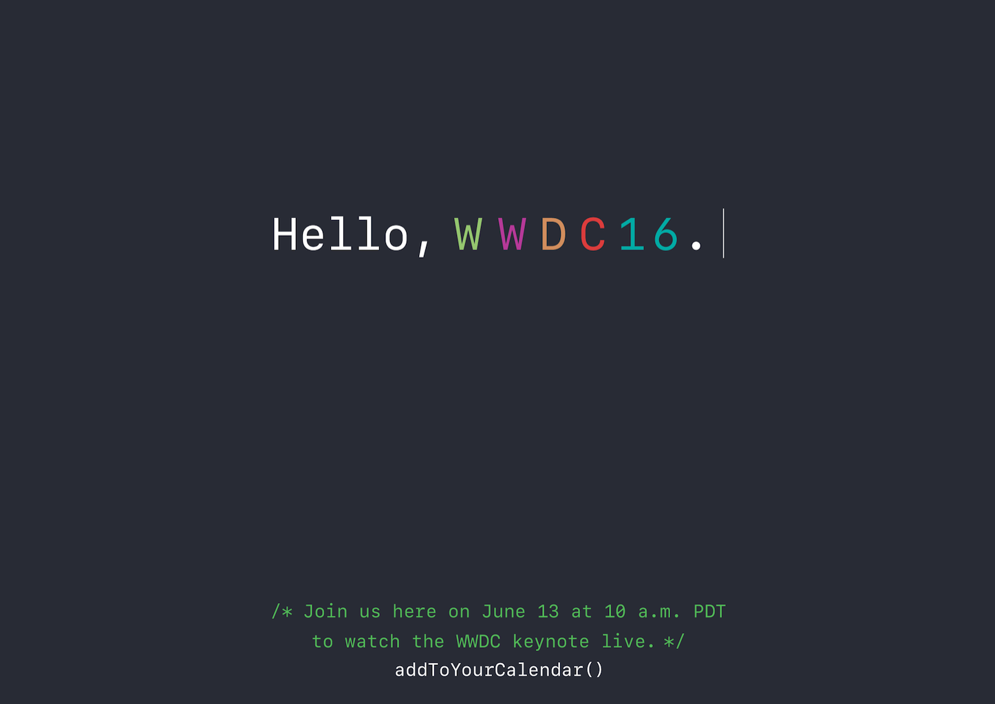 Apple WWDC 2016 Live Keynote