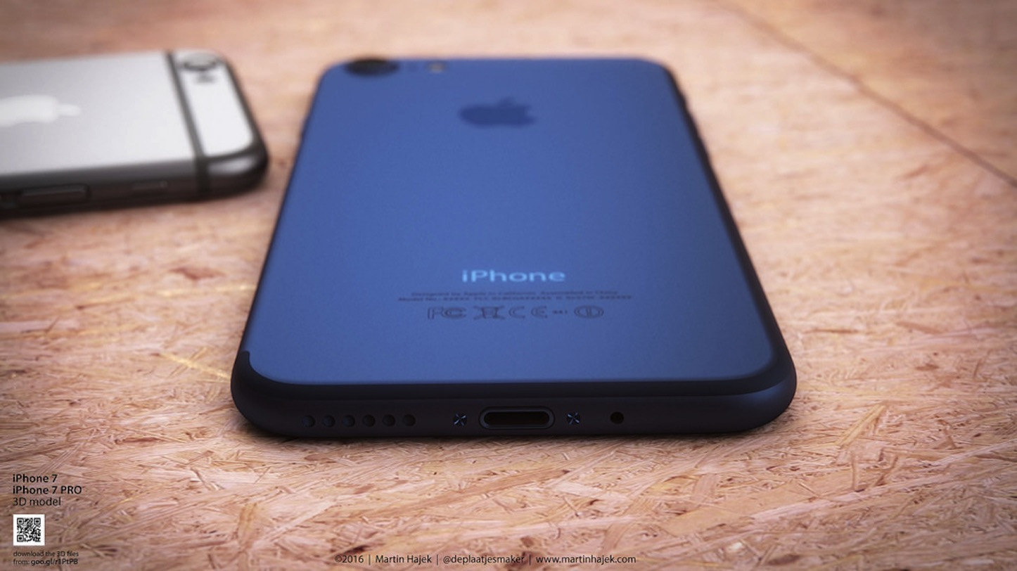 Dark Blue iPhone 7 concept