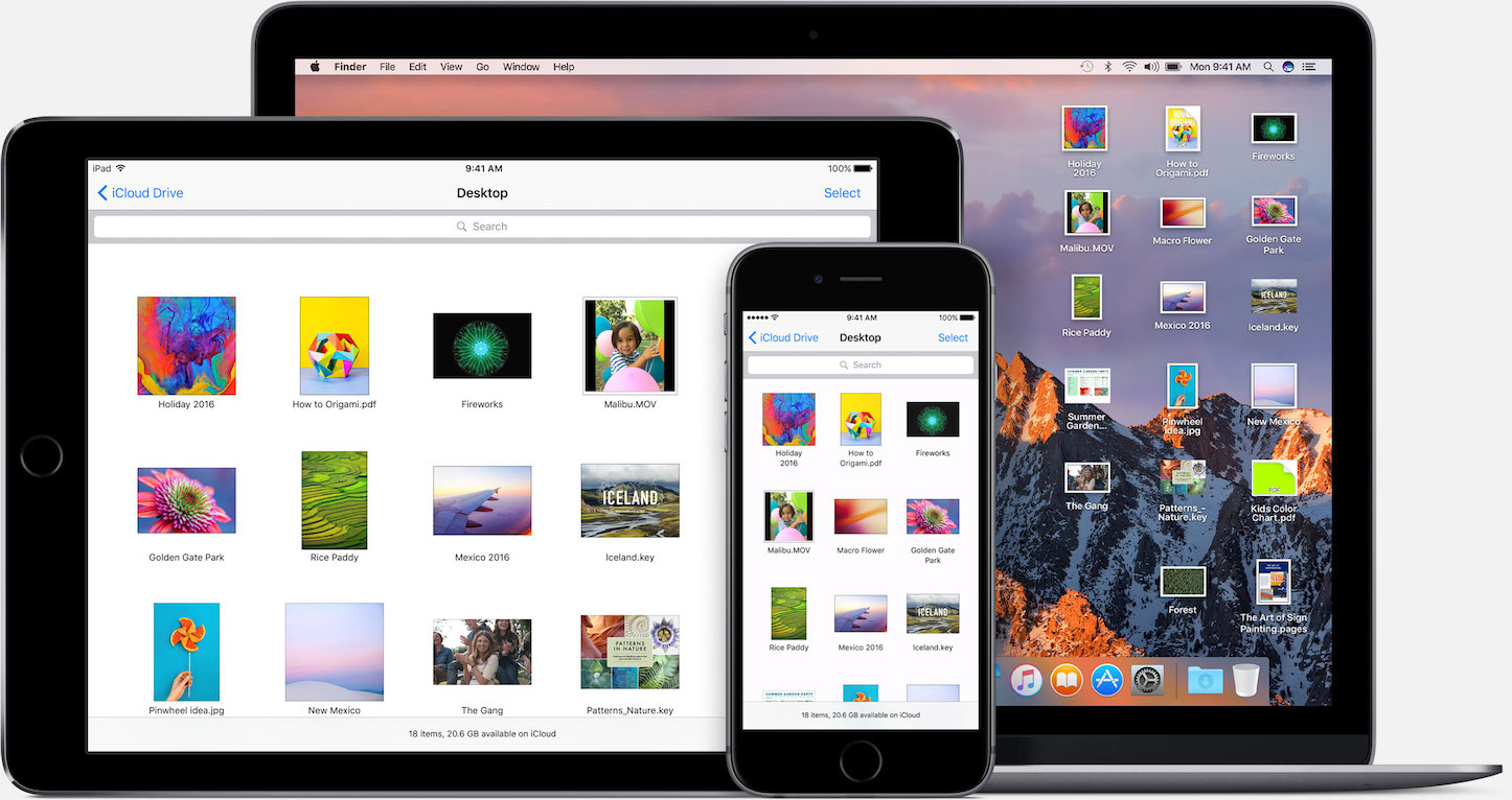Apple file system icloud drive