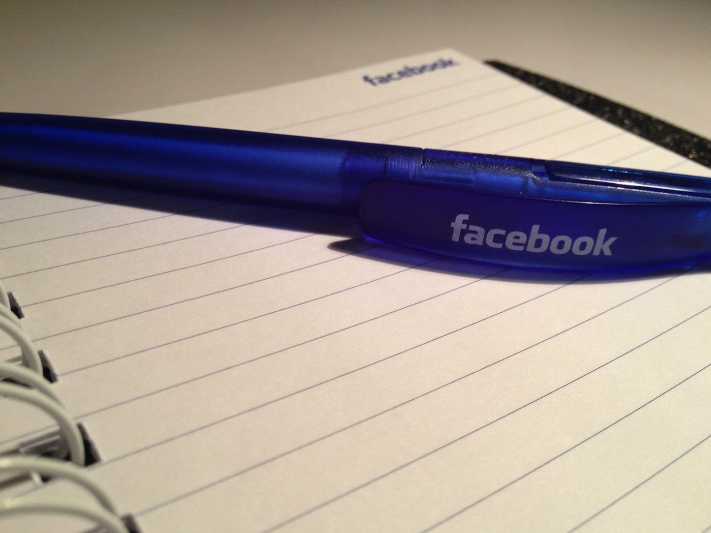 Facebook pen and notebook