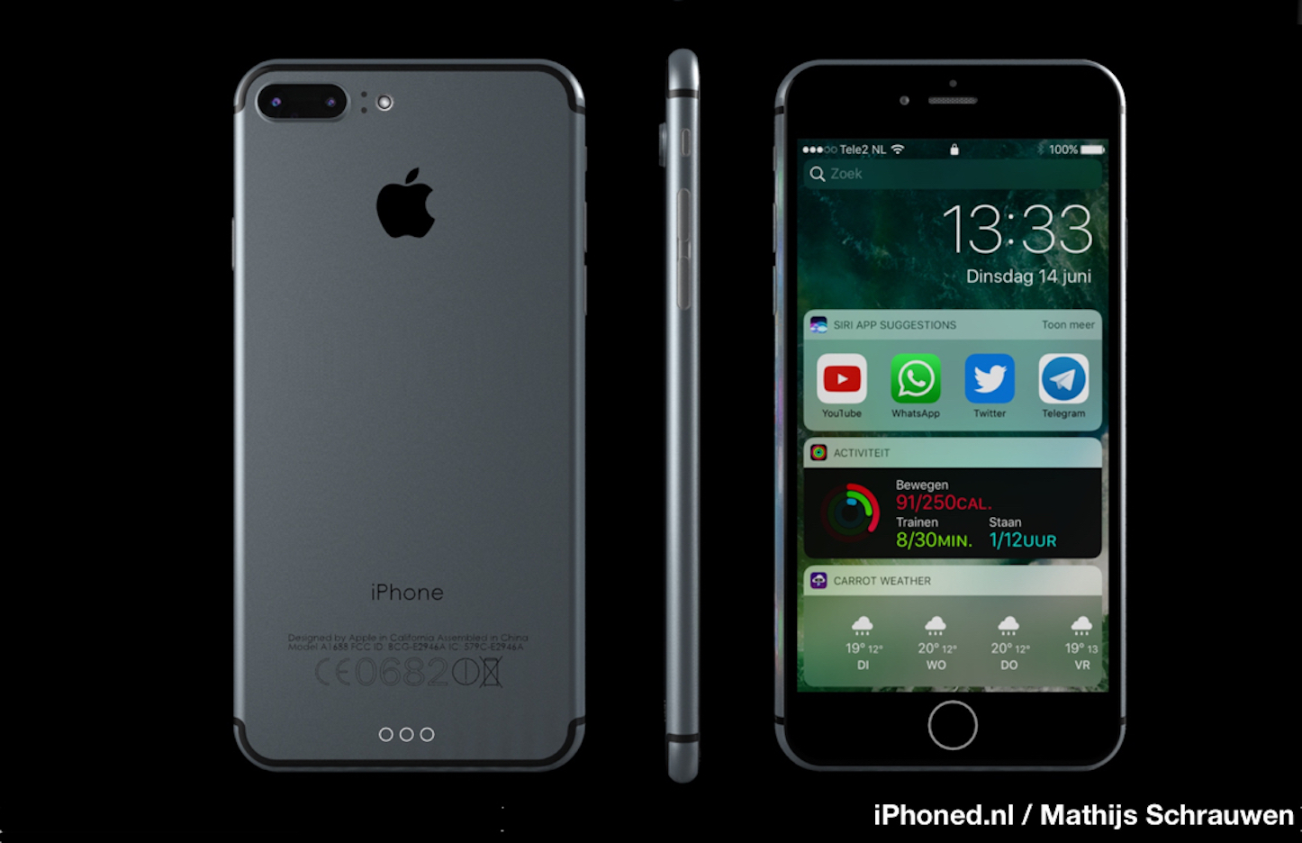 IPhone 7 iOS 10 concept