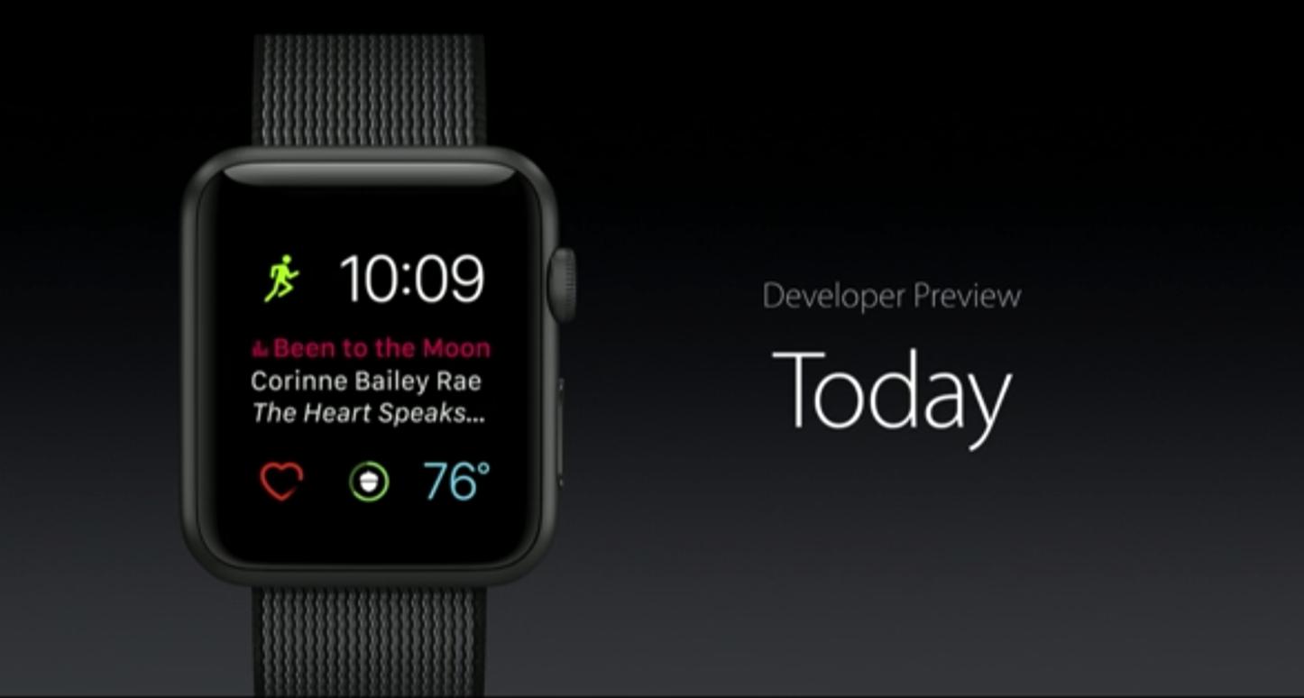 WatchOS 3 Apple WWDC 2016 1