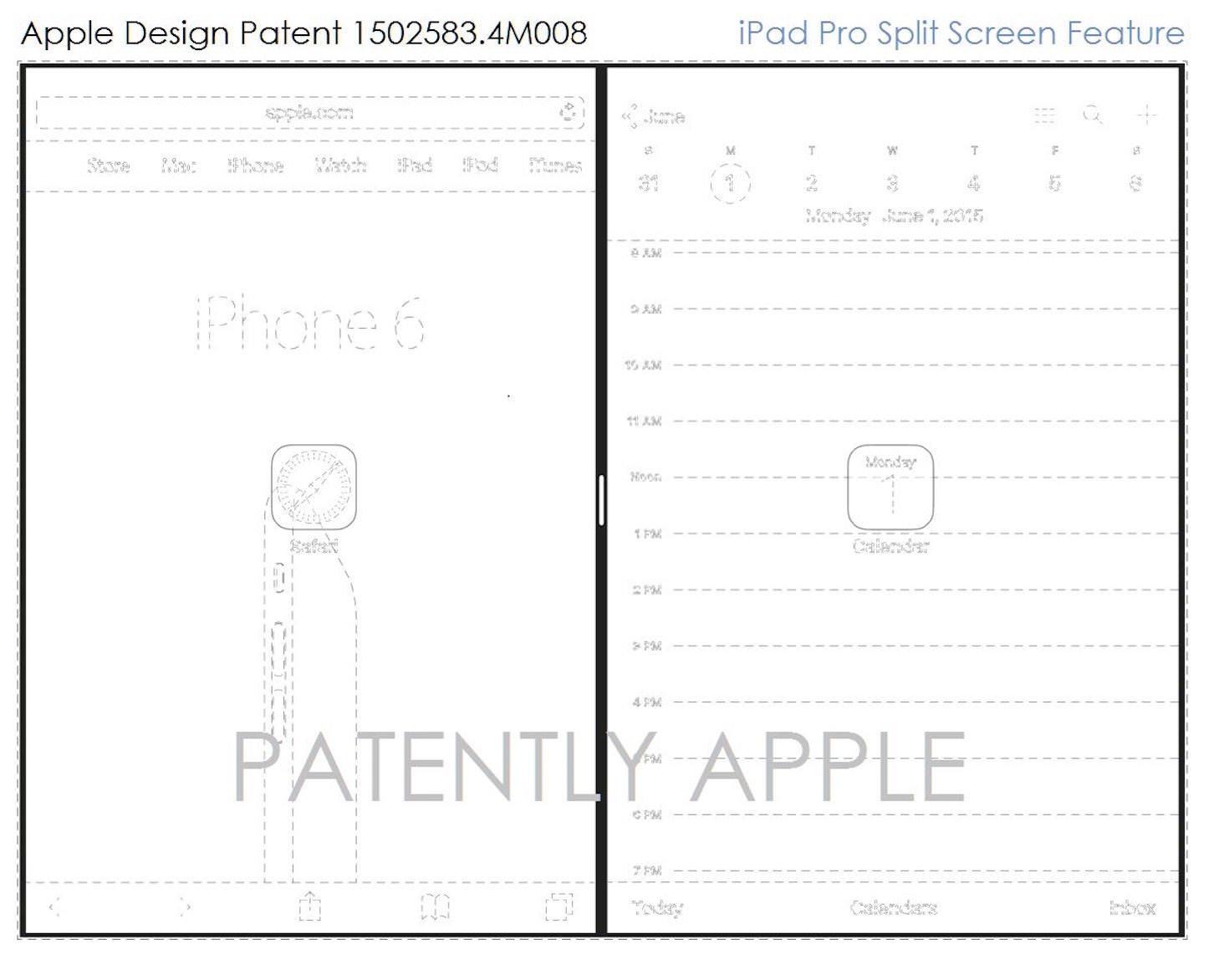 Apple Design Patents for SplitView
