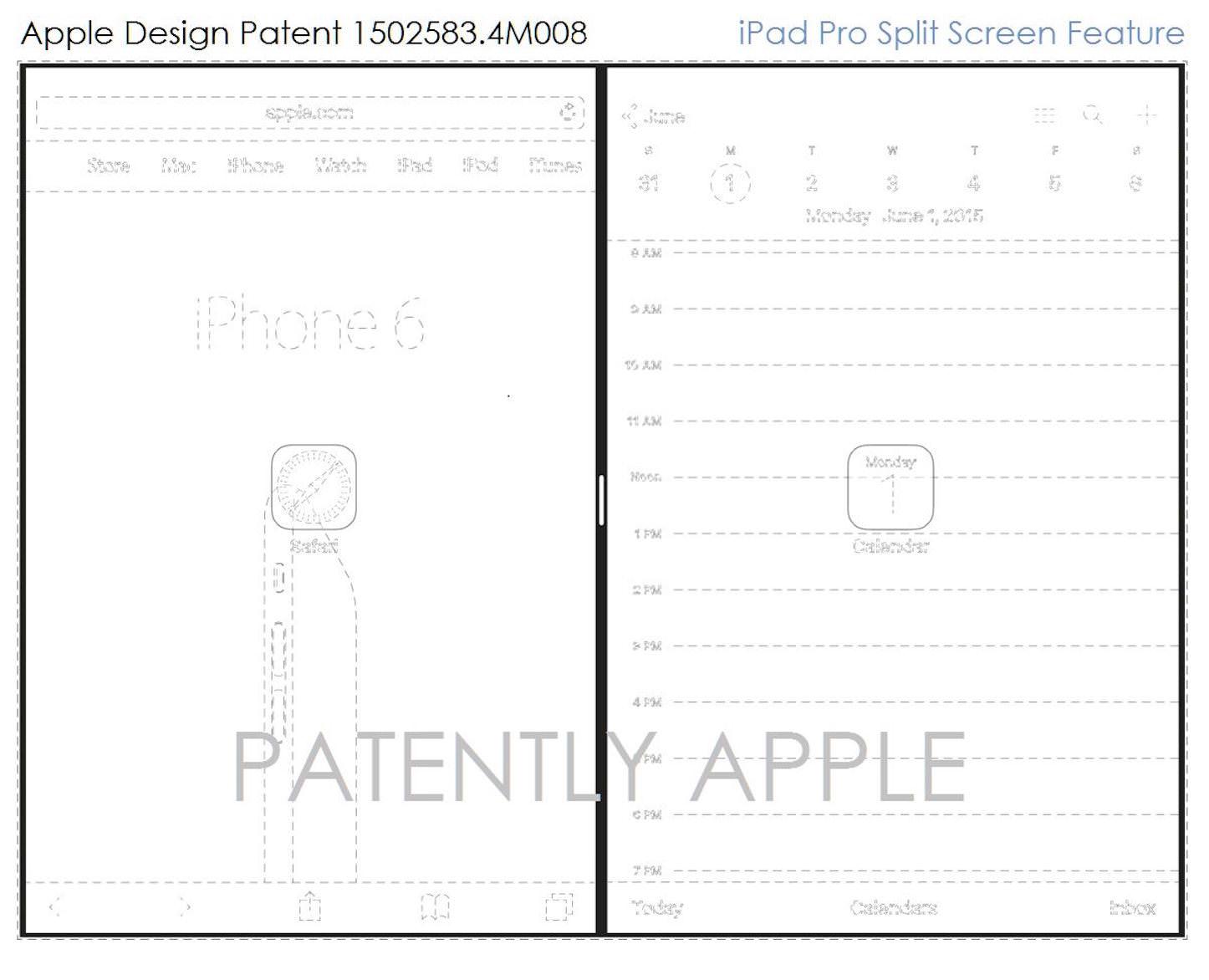 Apple Design Patents for SplitView