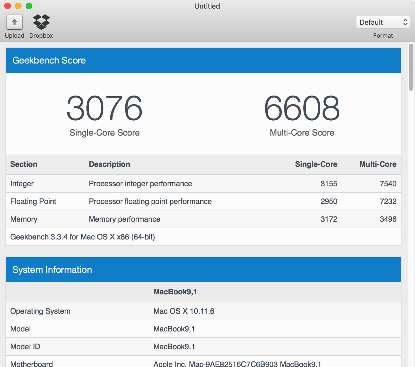 Geekbench3 MacBook2016