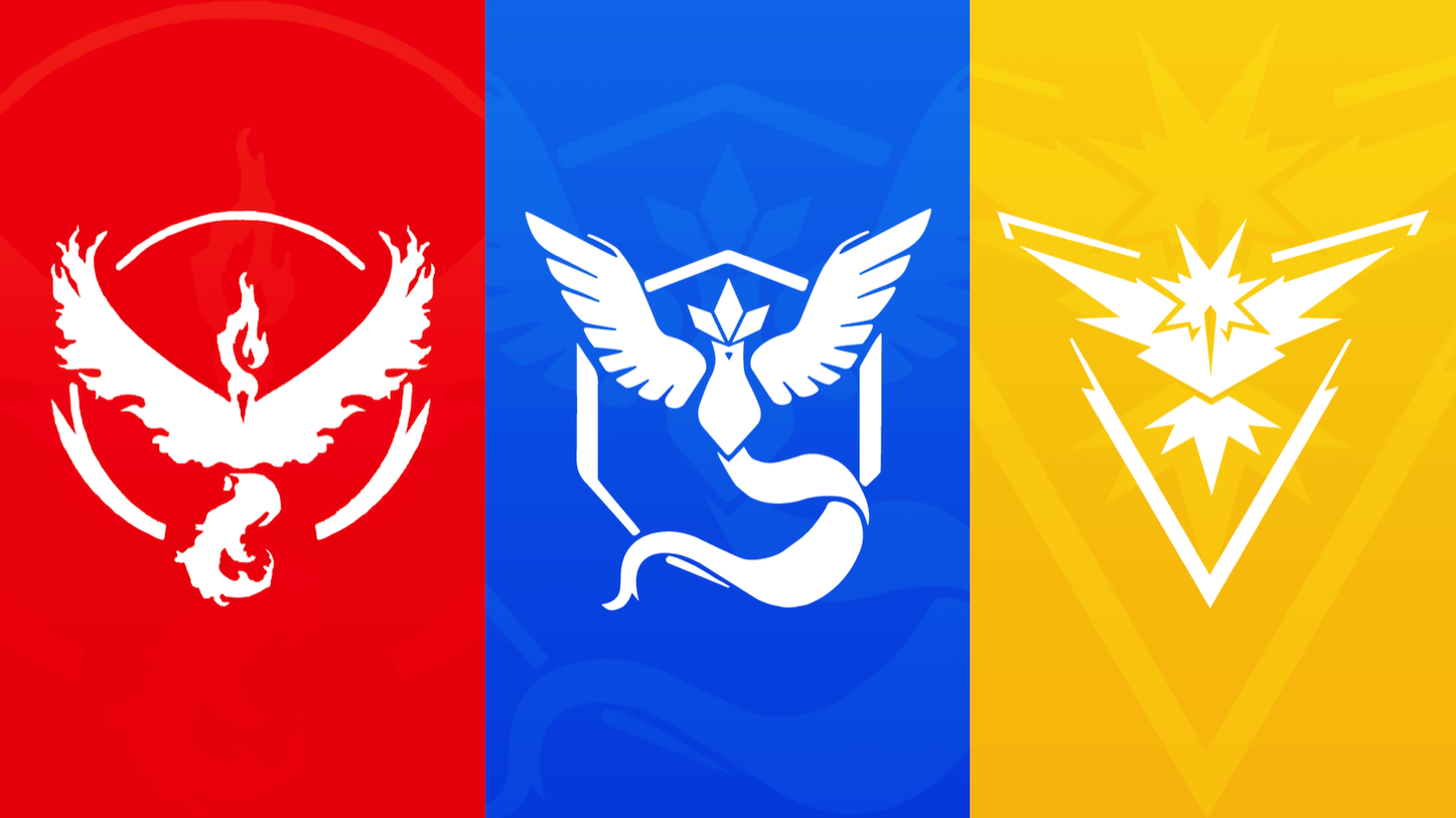 Pokemon Go Team Colors