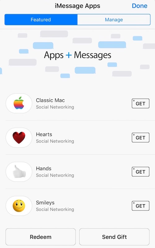 Ios 10 messages app store