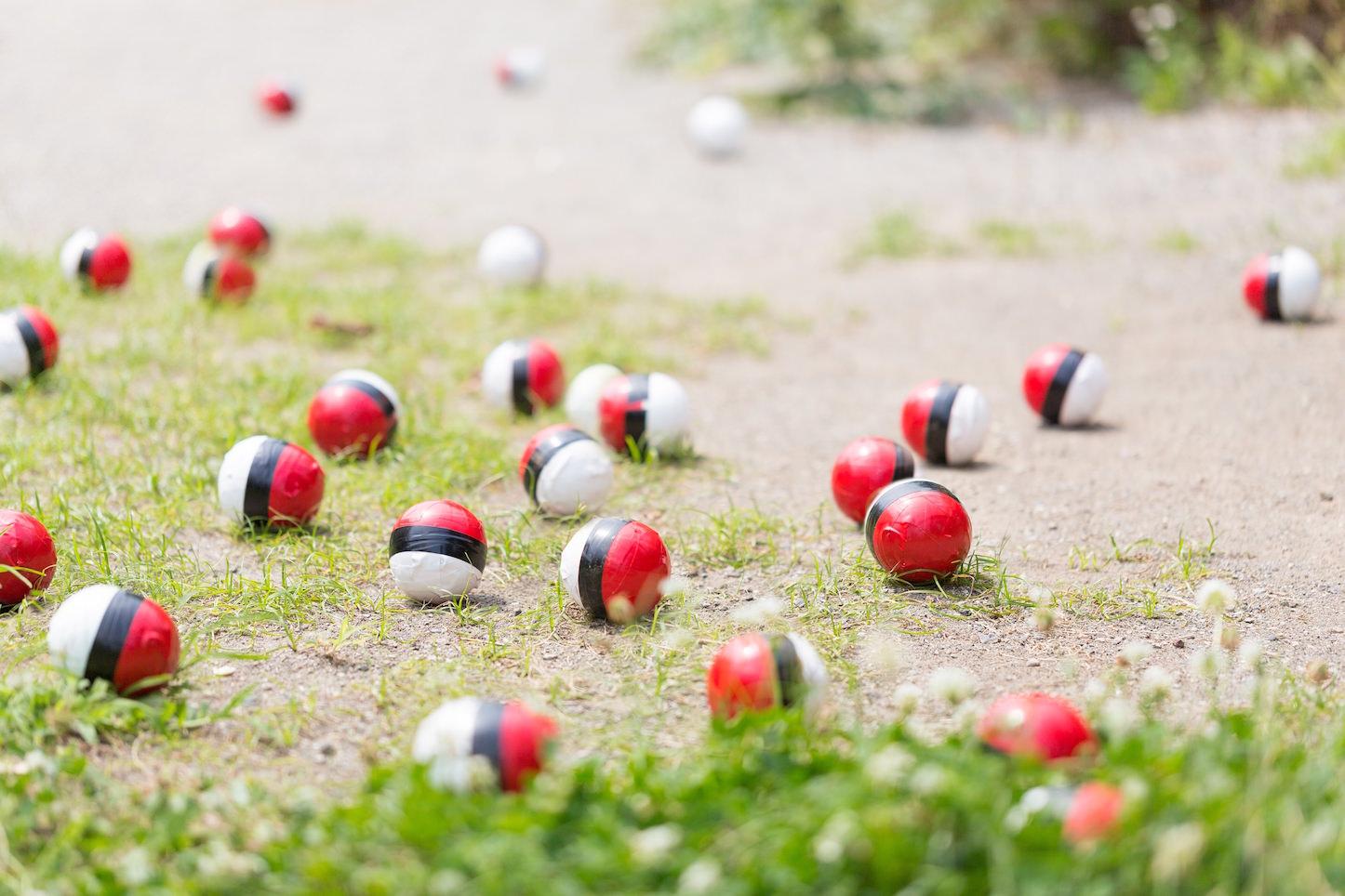 Lots and lots of pokemon balls