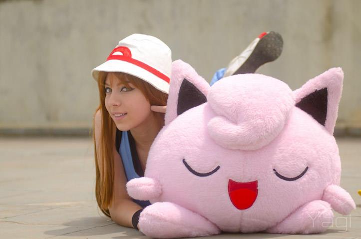 Pokemon and a beautiful lady