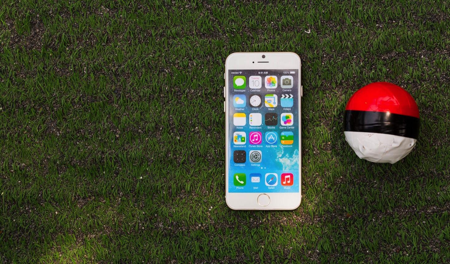 Pokemon ball in the yard