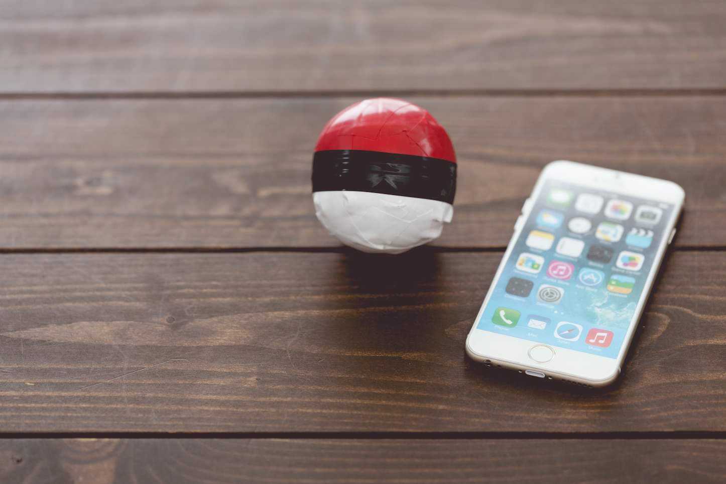 Pokemon ball with iphone