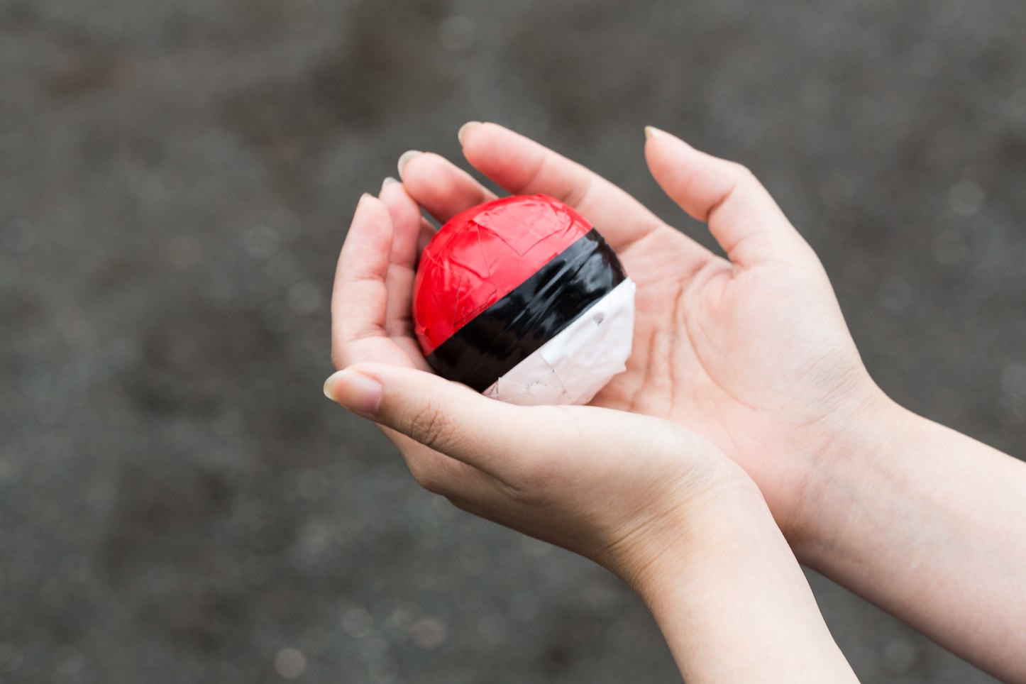 Pokemongo holding the monster ball